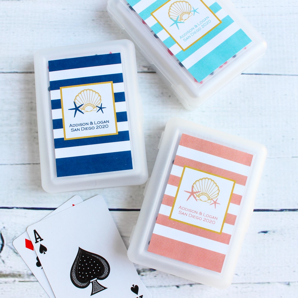 Wedding Themed Playing Cards With Personalized Label 5818