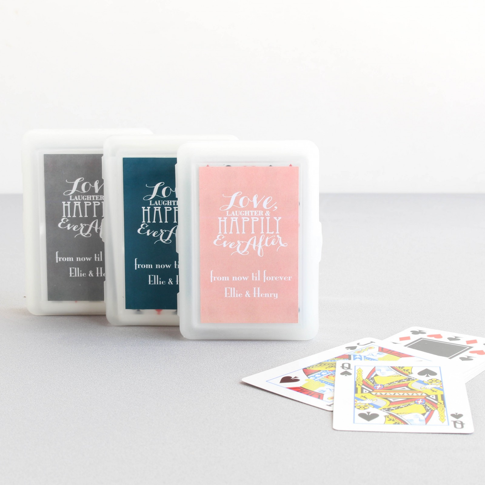 Personalized Love Laughter Playing Cards with Personalized Label