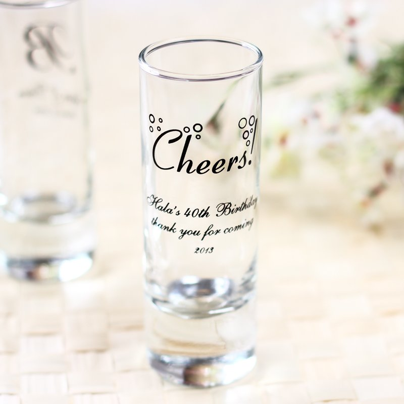 Personalized Birthday Double Shot Glass 5872