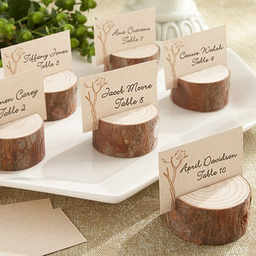 Rustic Real Wood Place Card/Photo Holders 5915