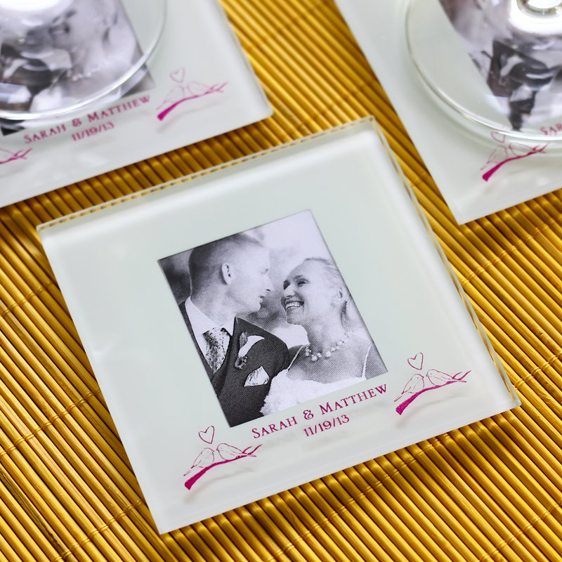 Personalized Frosted Glass Photo Coasters 5924
