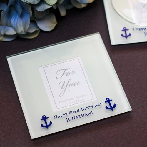 Personalized Frosted Glass Photo Coasters 5925
