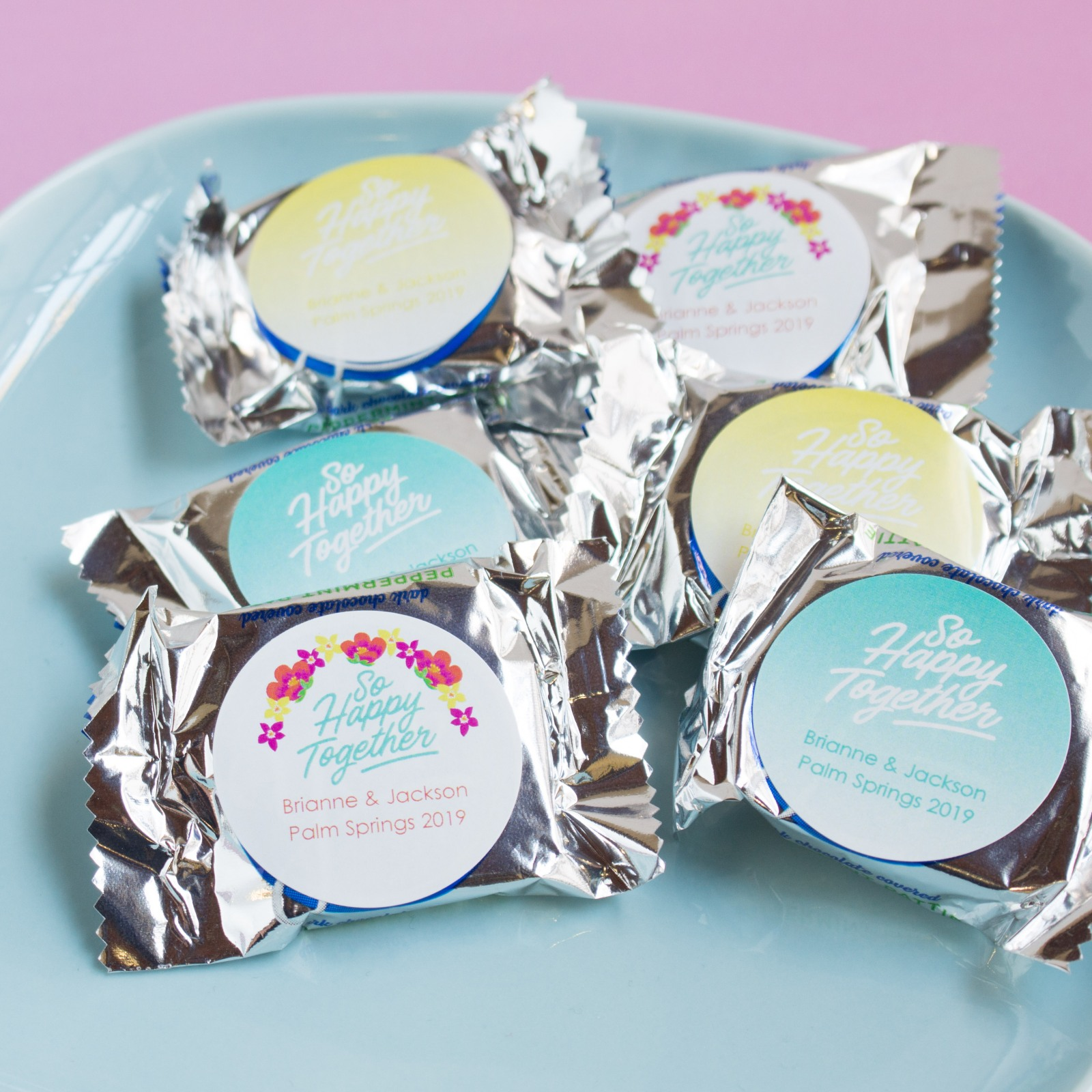 Personalized Happy Together Wedding York Peppermint Patties