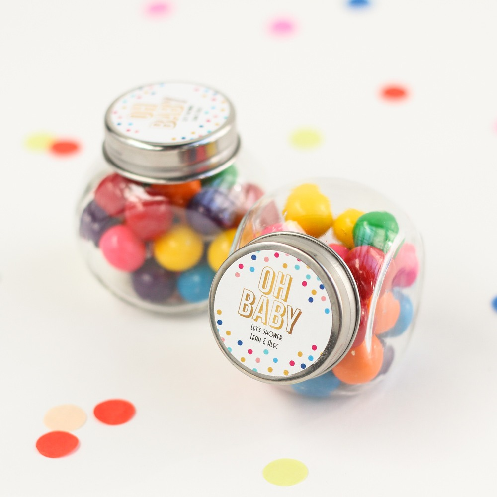 Personalized Baby Shower Themed Candy Jar 6153