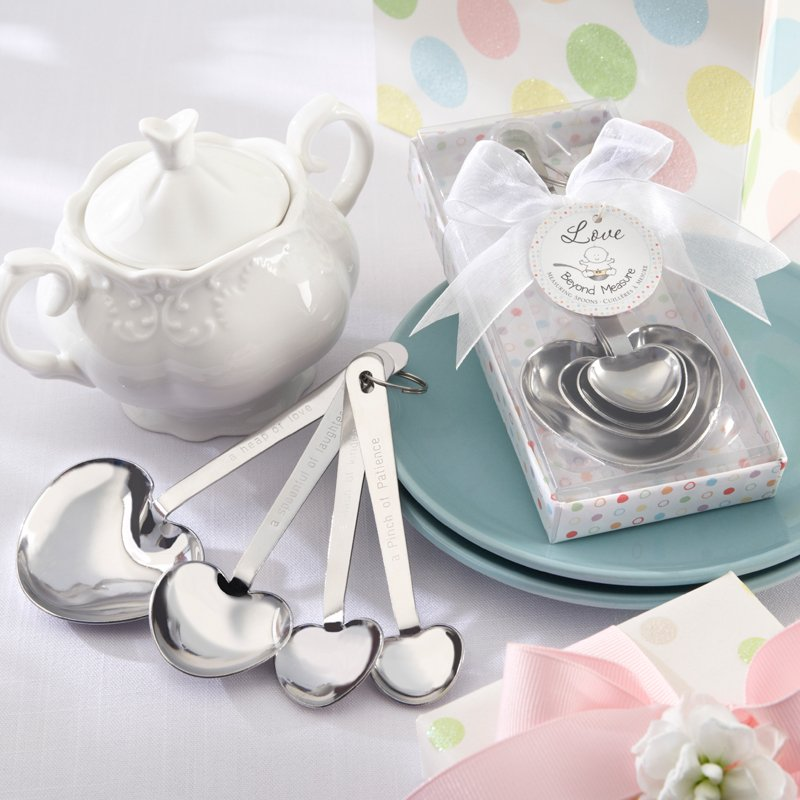 Heart Shaped Measuring Spoons Baby Shower Favor 6183