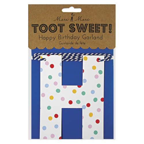 Spotty Party Garland in Packaging