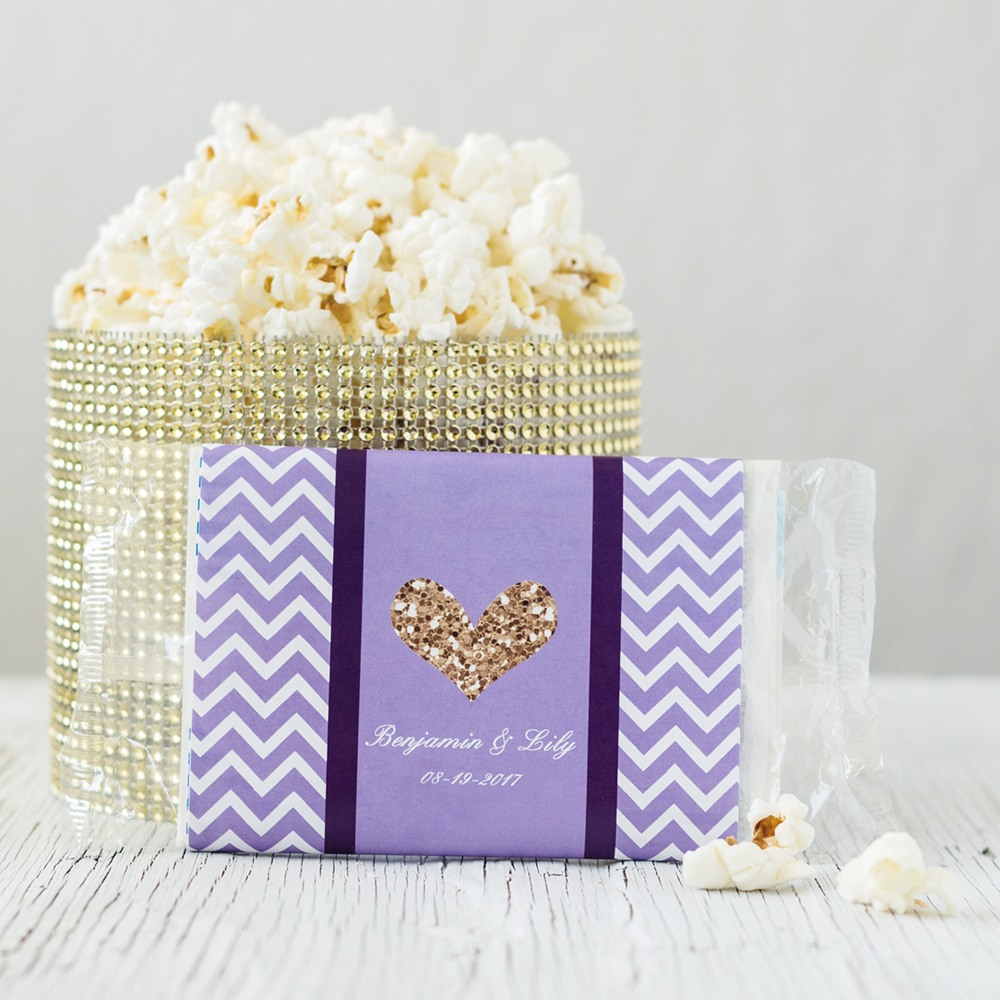 Personalized Bridal Microwaveable Popcorn Bags 6292