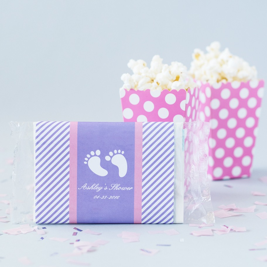 Personalized Baby Shower Microwaveable Popcorn Bags 6293
