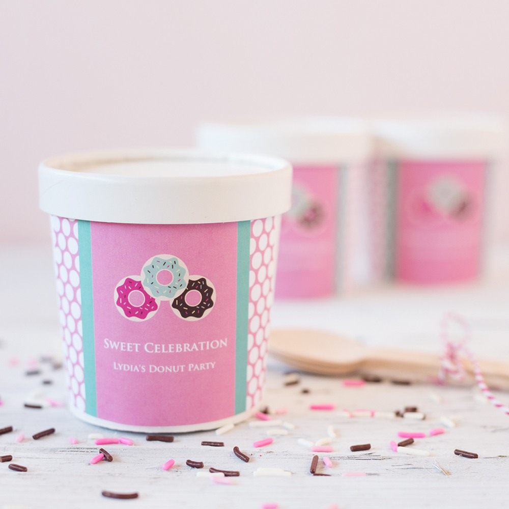 Personalized Birthday Ice Cream Pint Containers 6297