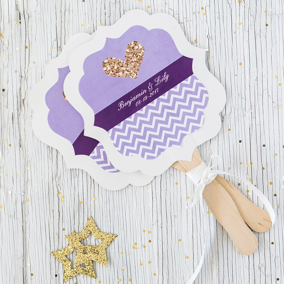 Personalized Wedding Paddle Fan