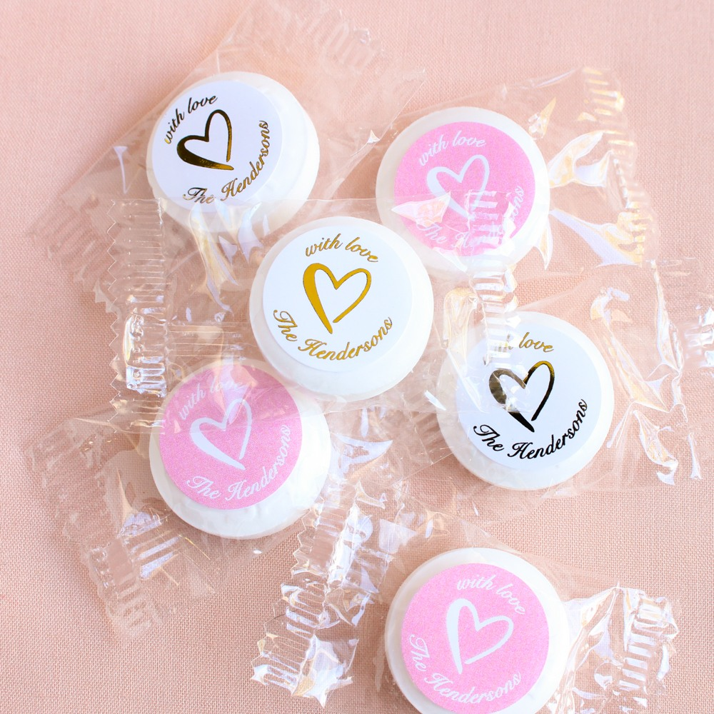 Personalized Heart Life Saver Candies