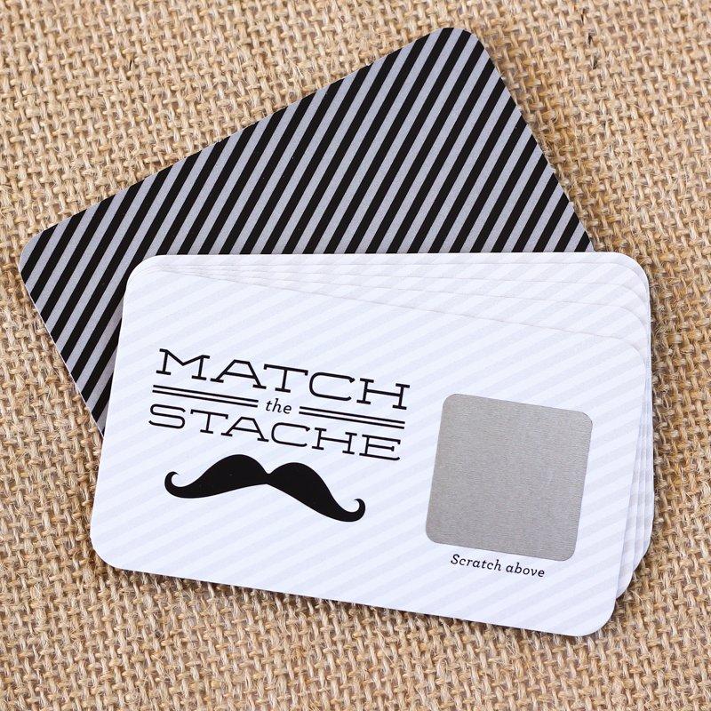 Mustache Scratch Cards Game 6438