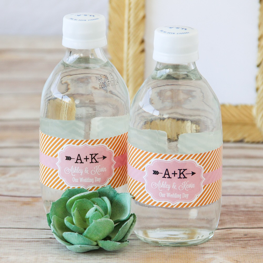 Personalized Bridal Themed Water Bottle Labels 6496