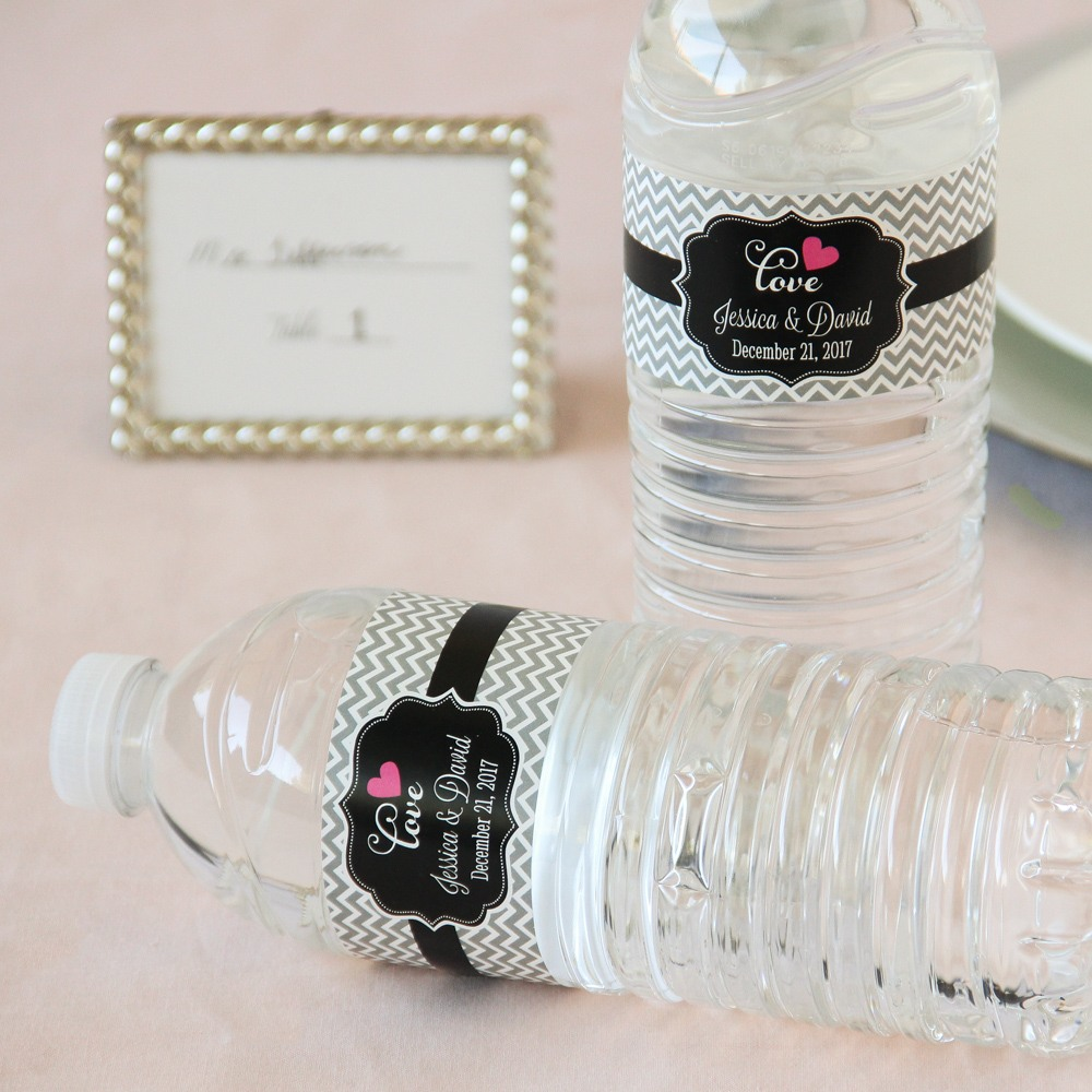 Personalized Bridal Water Bottle Labels