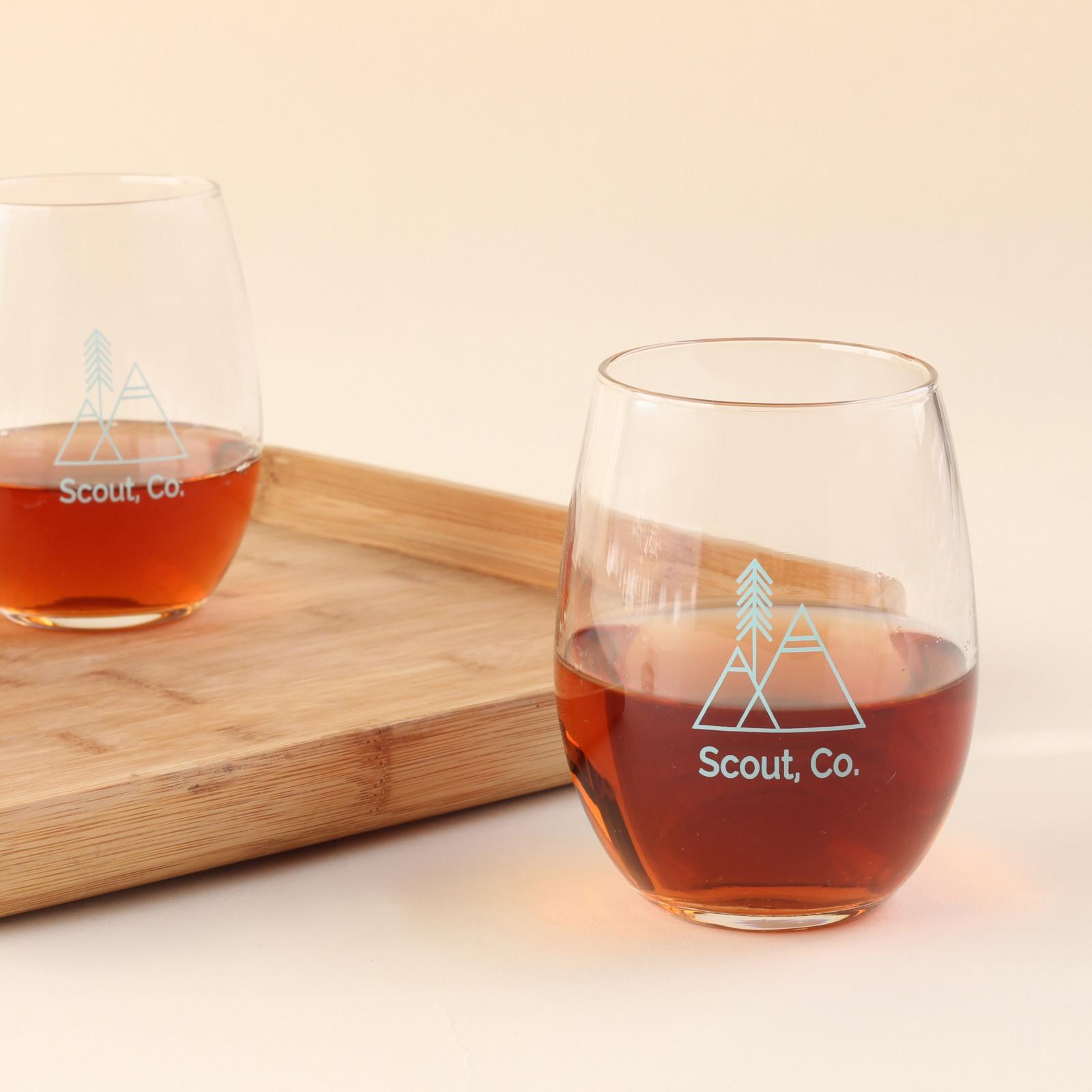 Corporate Logo Stemless Wine Glass 6497