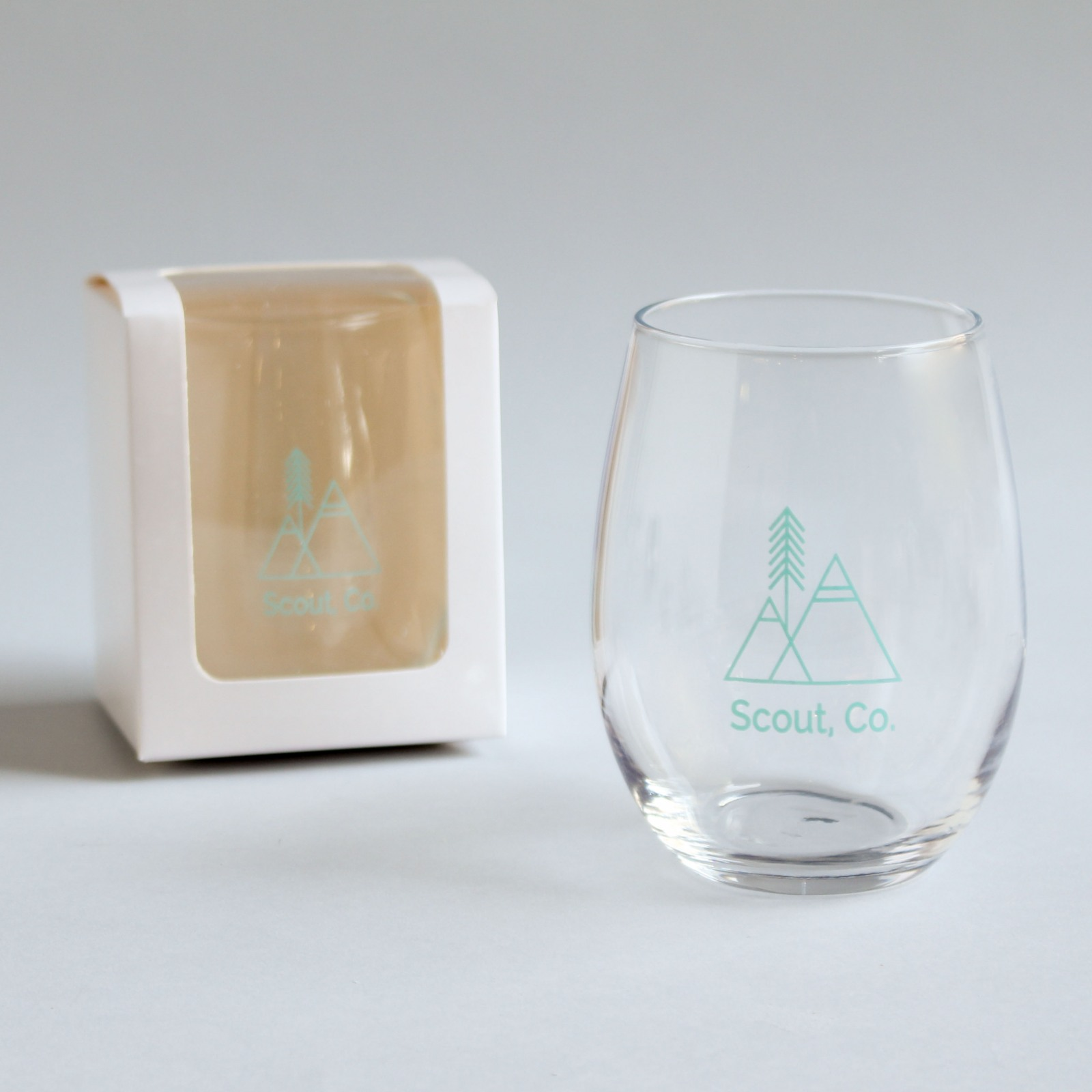 9 and 15 oz. Corporate Stemless Wine Glasses