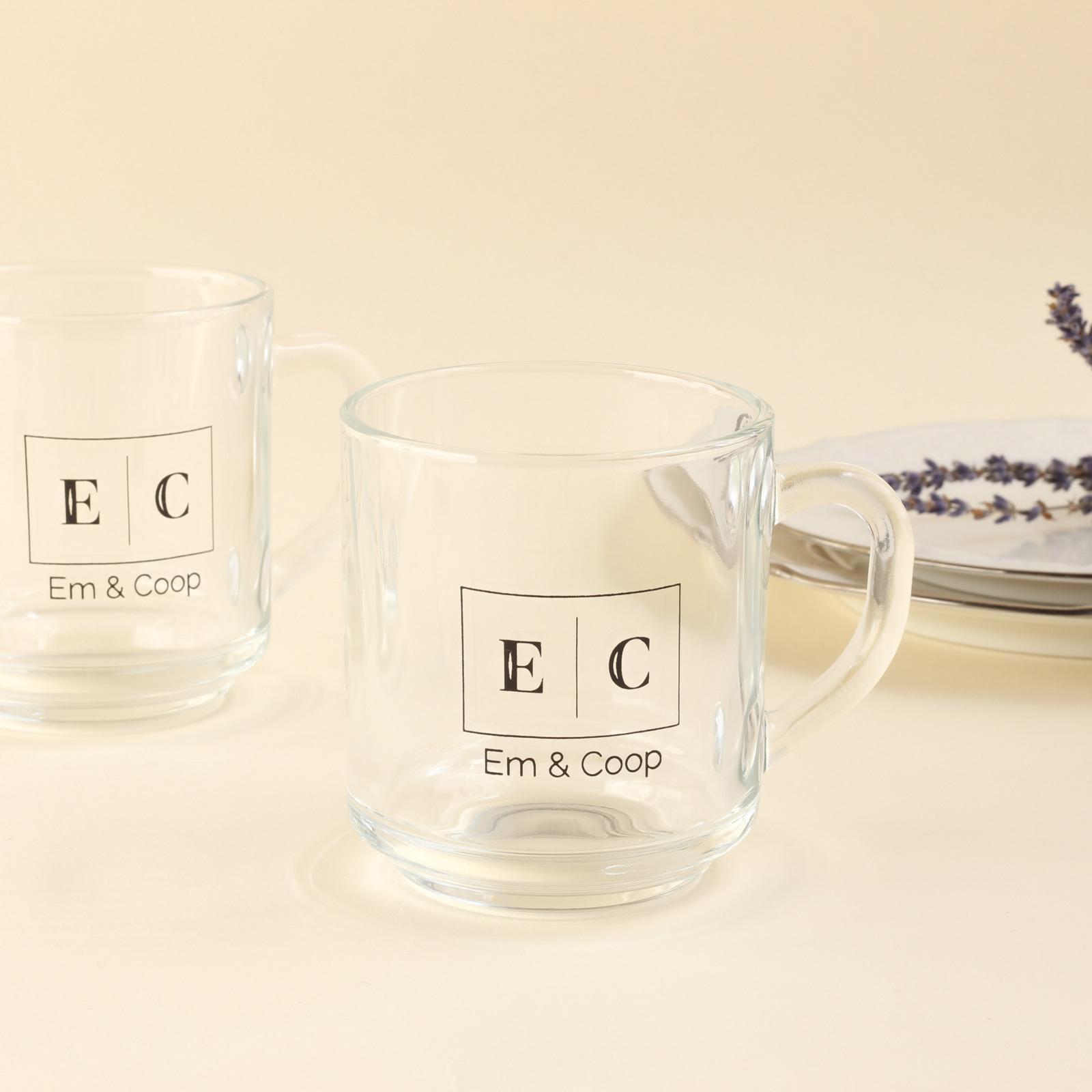 Corporate Logo Glass Mug 6572