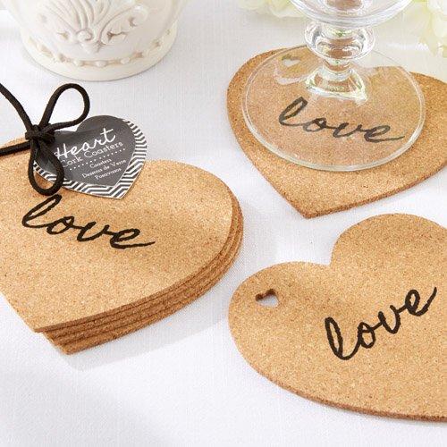 Heart Shaped Cork Coasters 6624