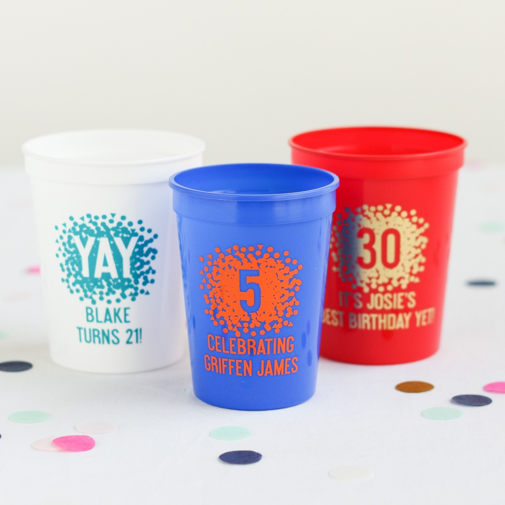 Personalized Birthday Stadium Cups 6757