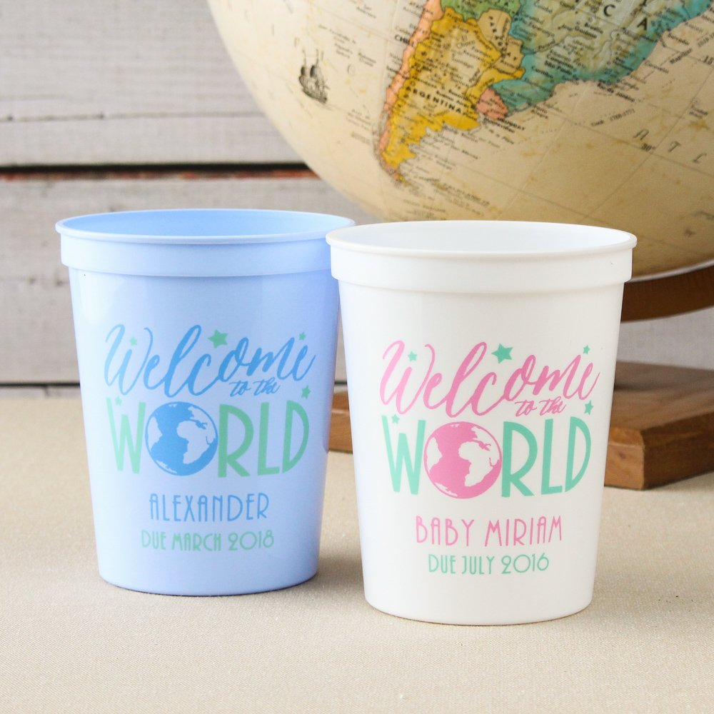 Personalized 2-Color Baby Stadium Cups