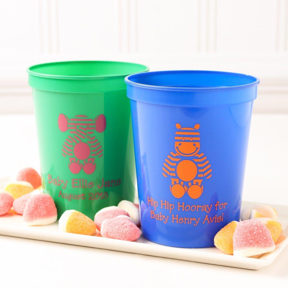 Personalized Baby Stripe Stadium Cups