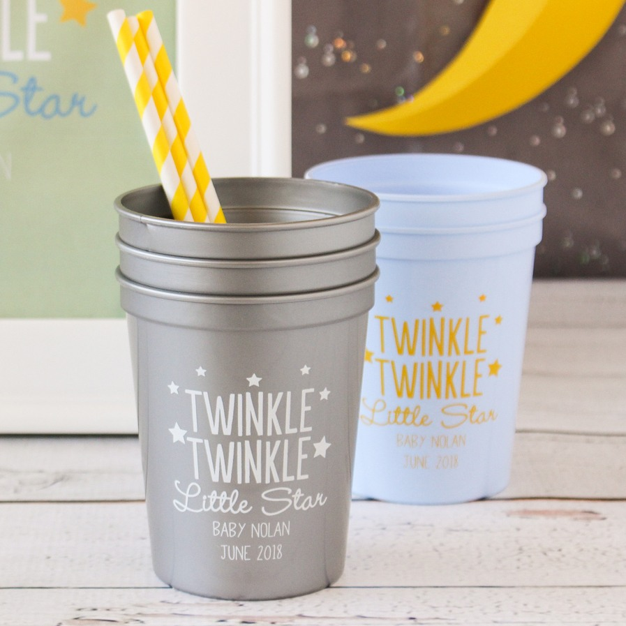 Personalized Twinkle Twinkle Stadium Cups