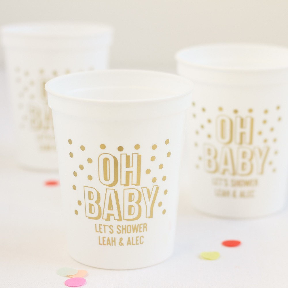 Personalized Oh Baby Stadium Cup