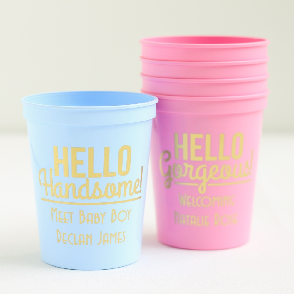 Personalized Hello Stadium Cup