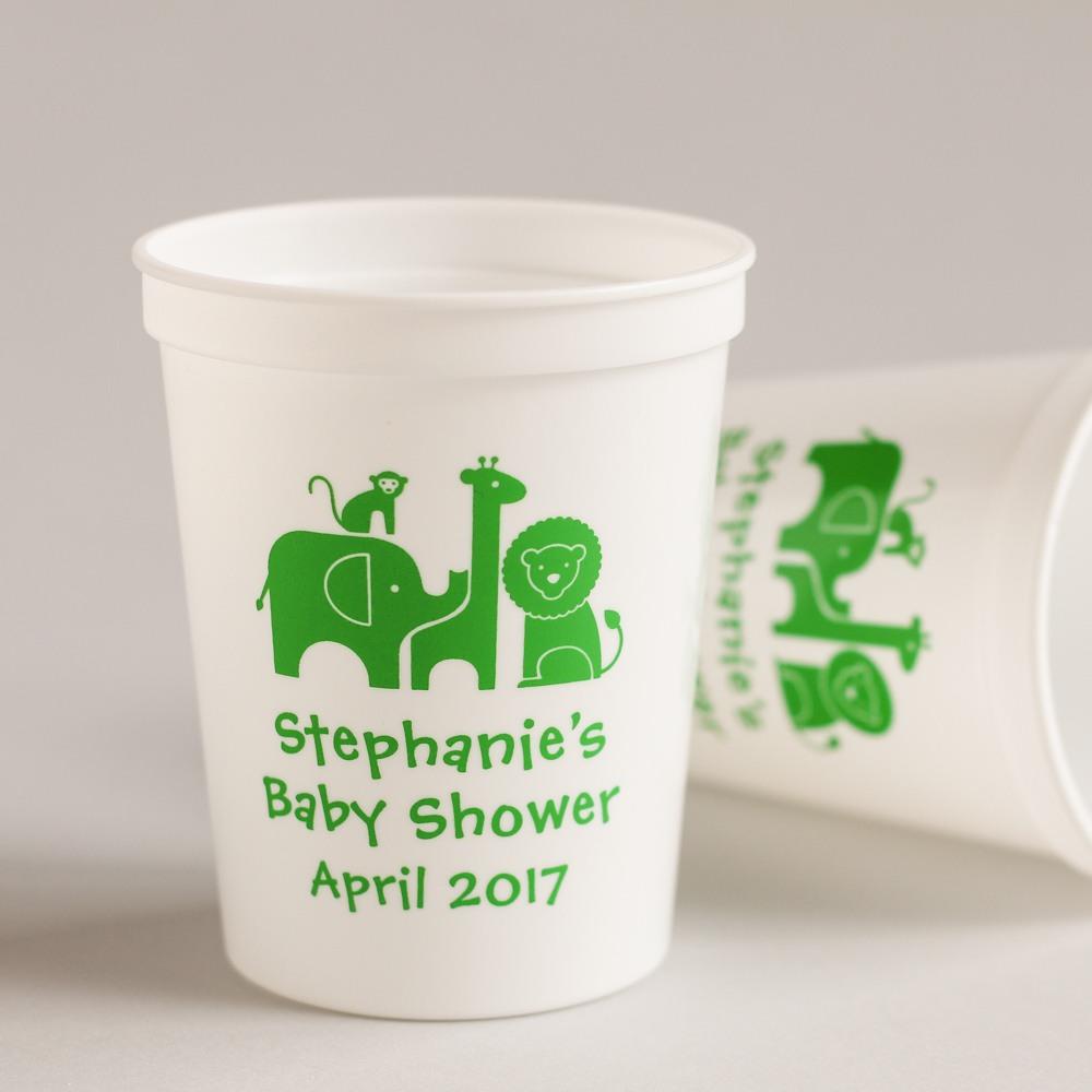 Personalized Safari Stadium Cups