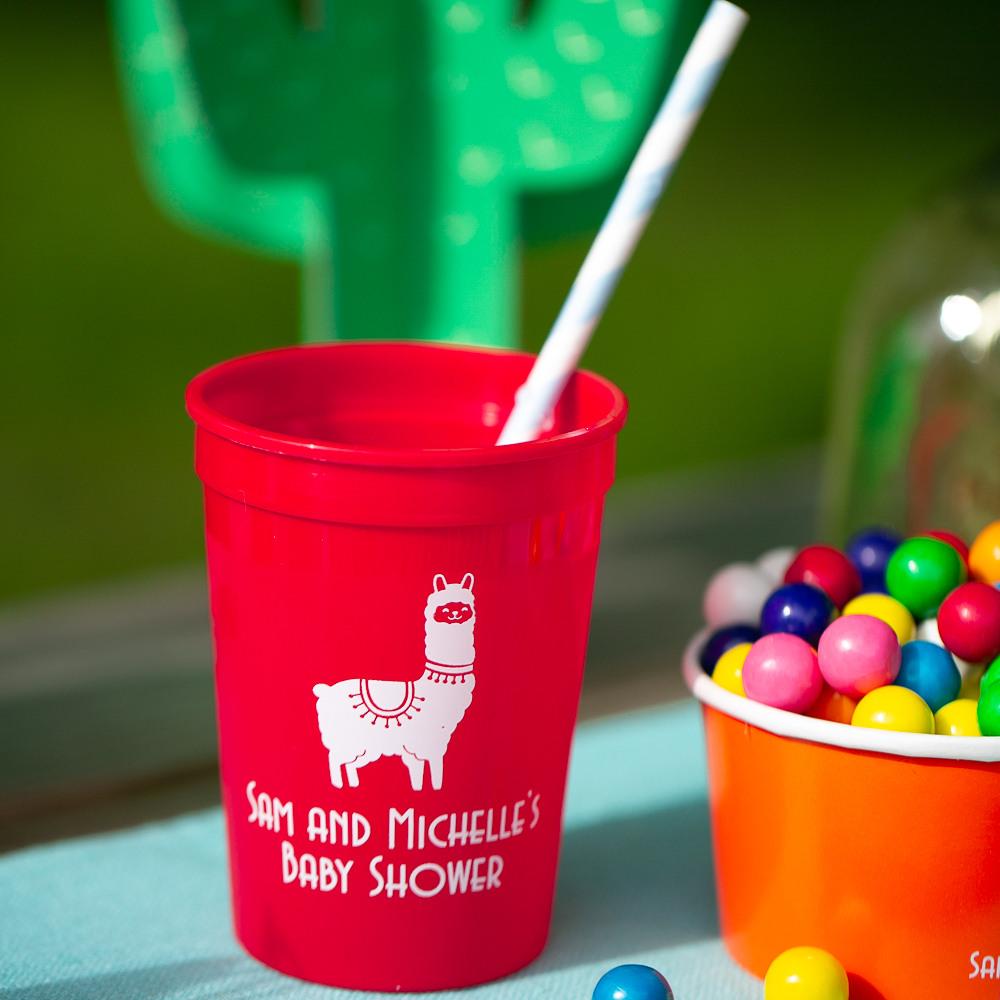 Personalized Fiesta Baby Shower Stadium Cups
