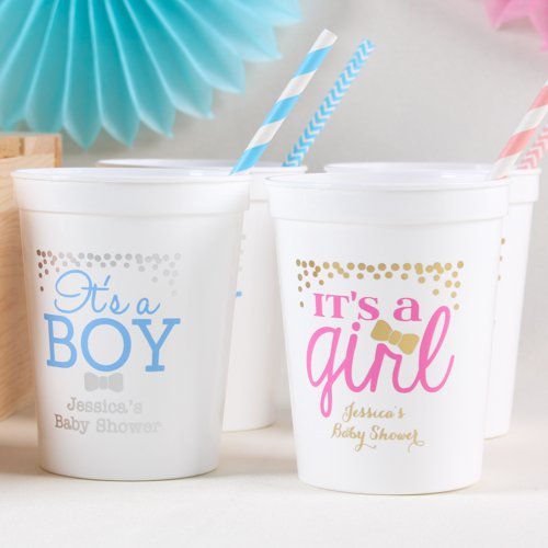 Personalized Exclusive Baby Shower Stadium Cups