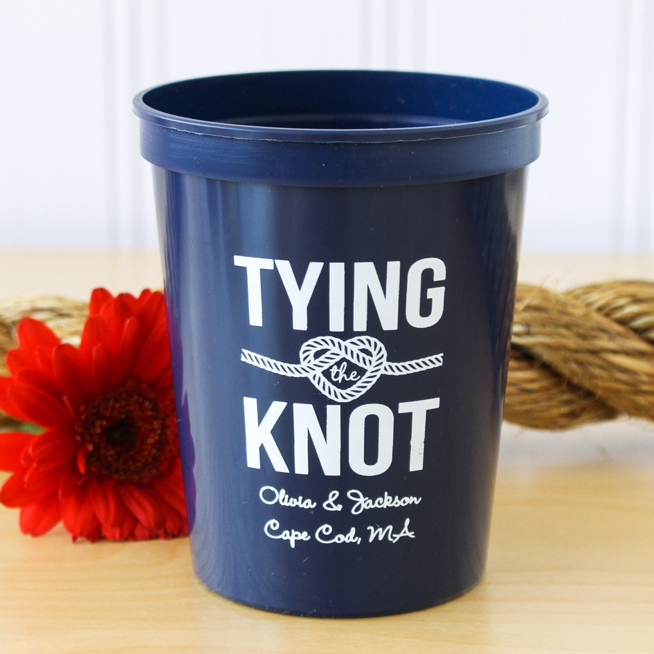 Personalized Nautical Themed Stadium Cups