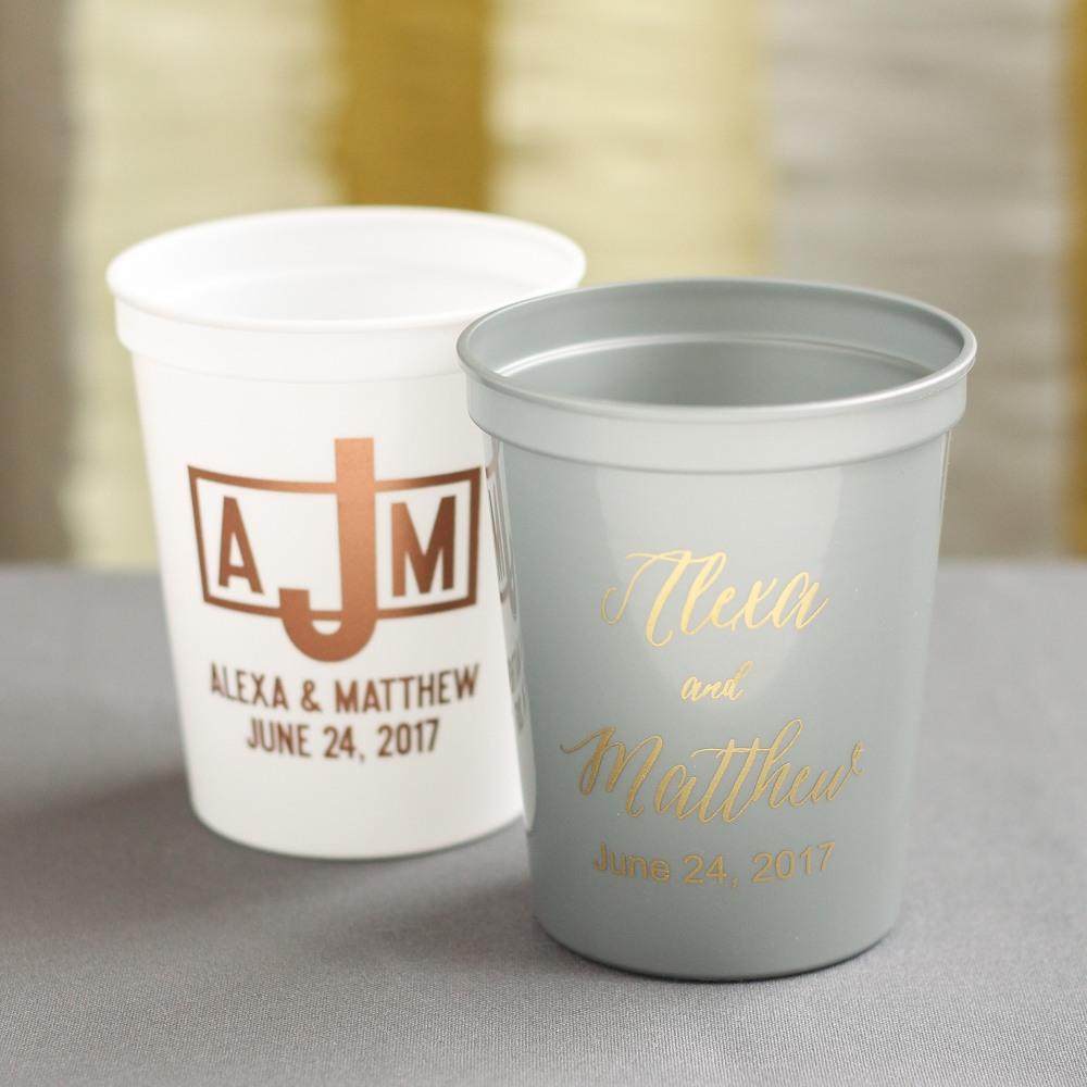 Personalized Modern LuxeStadium Cups