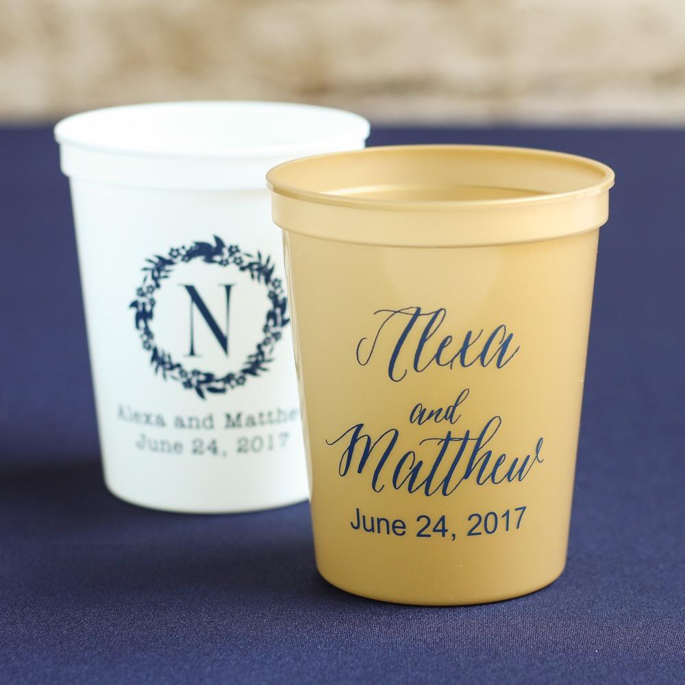 Personalized Bridal Stadium Cups