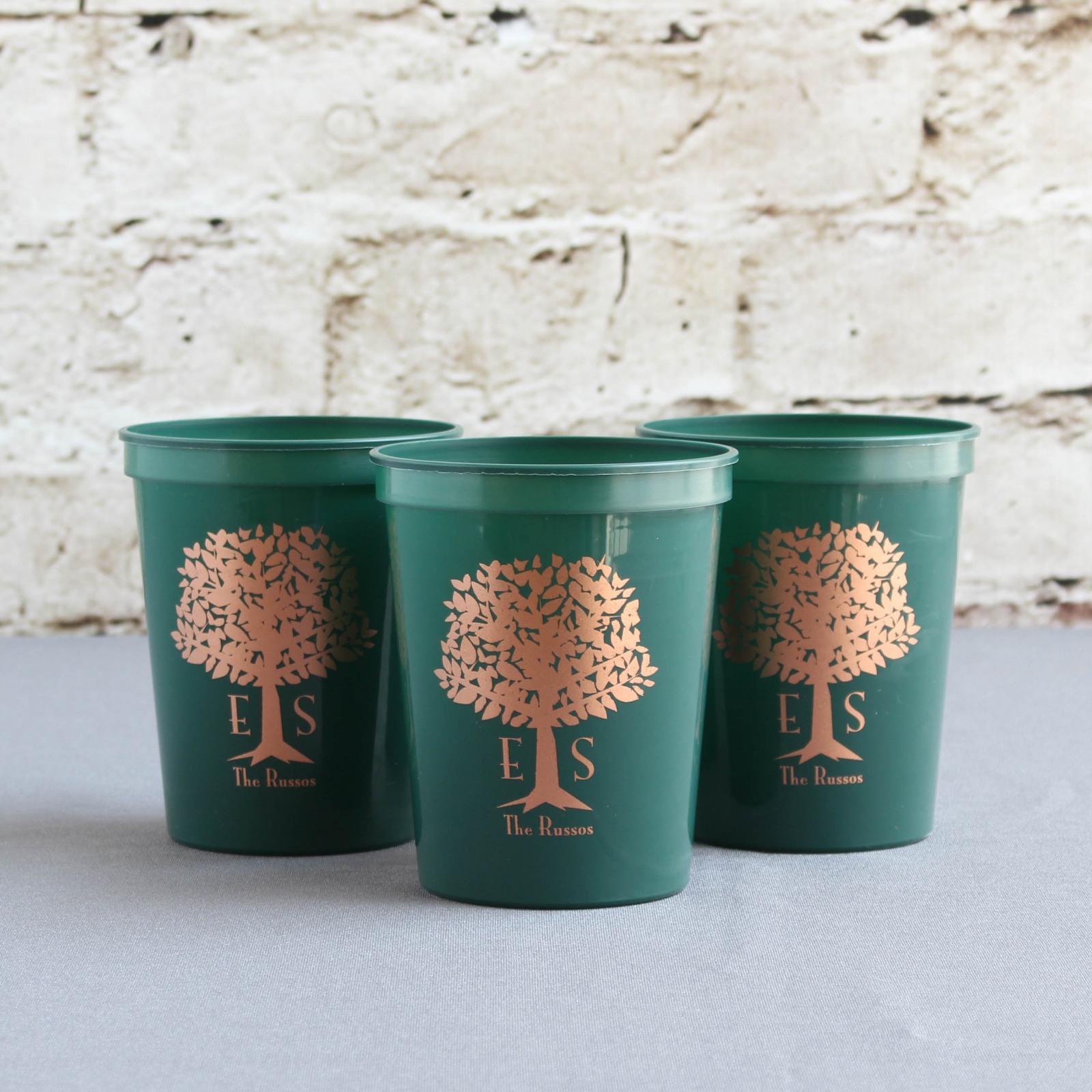 Personalized Wedding Tree Stadium Cups