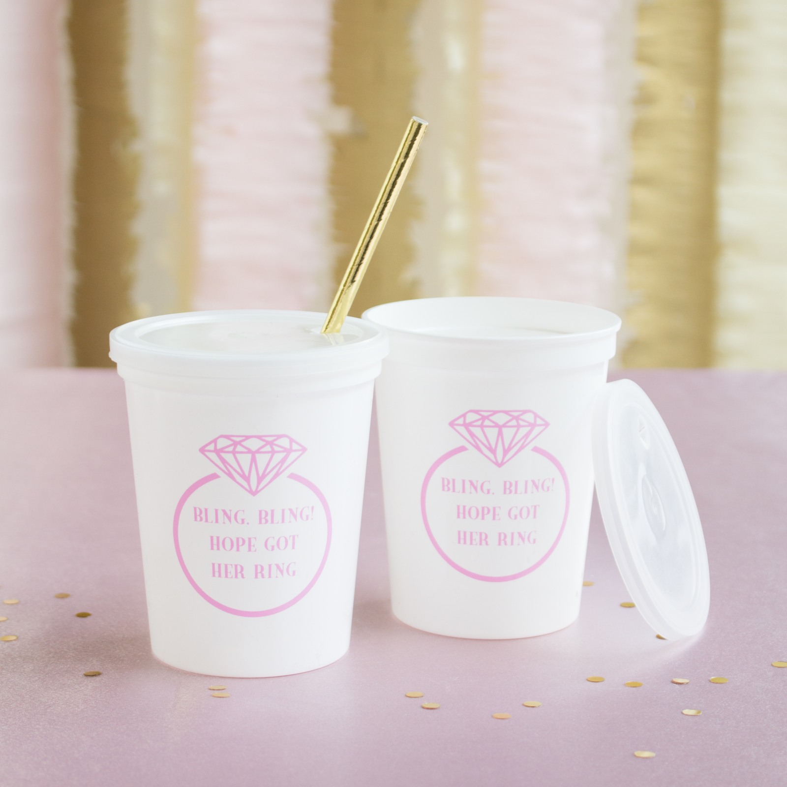 Personalized Ring Stadium Cups
