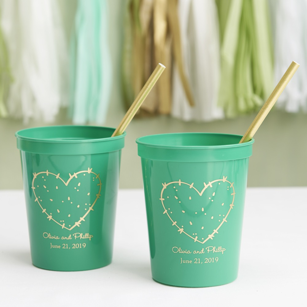 Personalized Bridal Stadium Cups Stuck on you