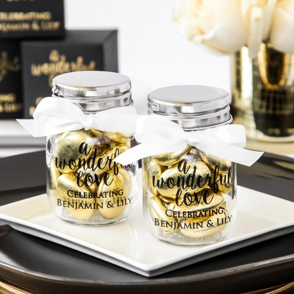 Personalized Wonderful Love Mini Mason Jars