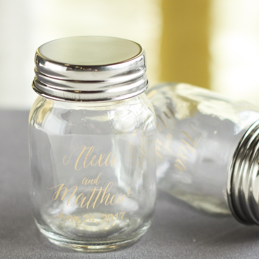 Printed Modern Mini Mason Jars