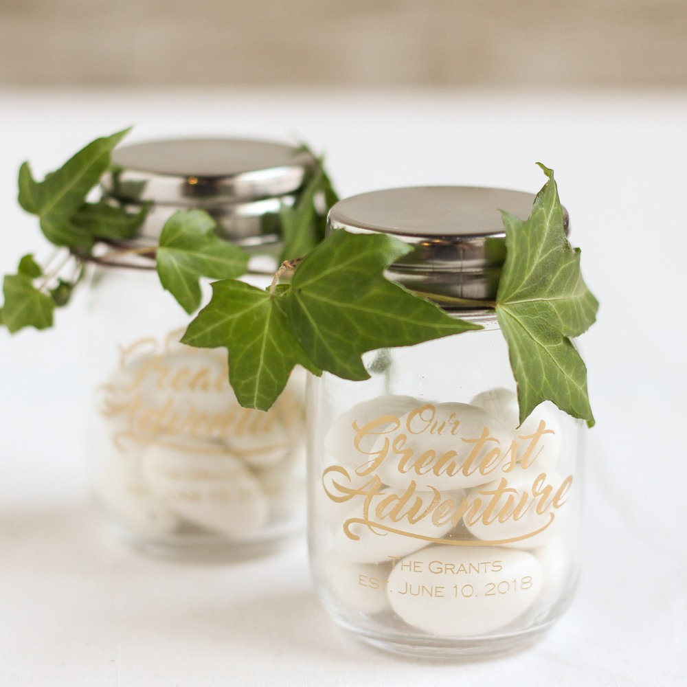 Personalized Greatest Adventure Printed Mini Mason Jars