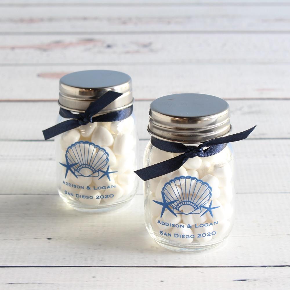 Personalized Seahsell Mini Mason Jars