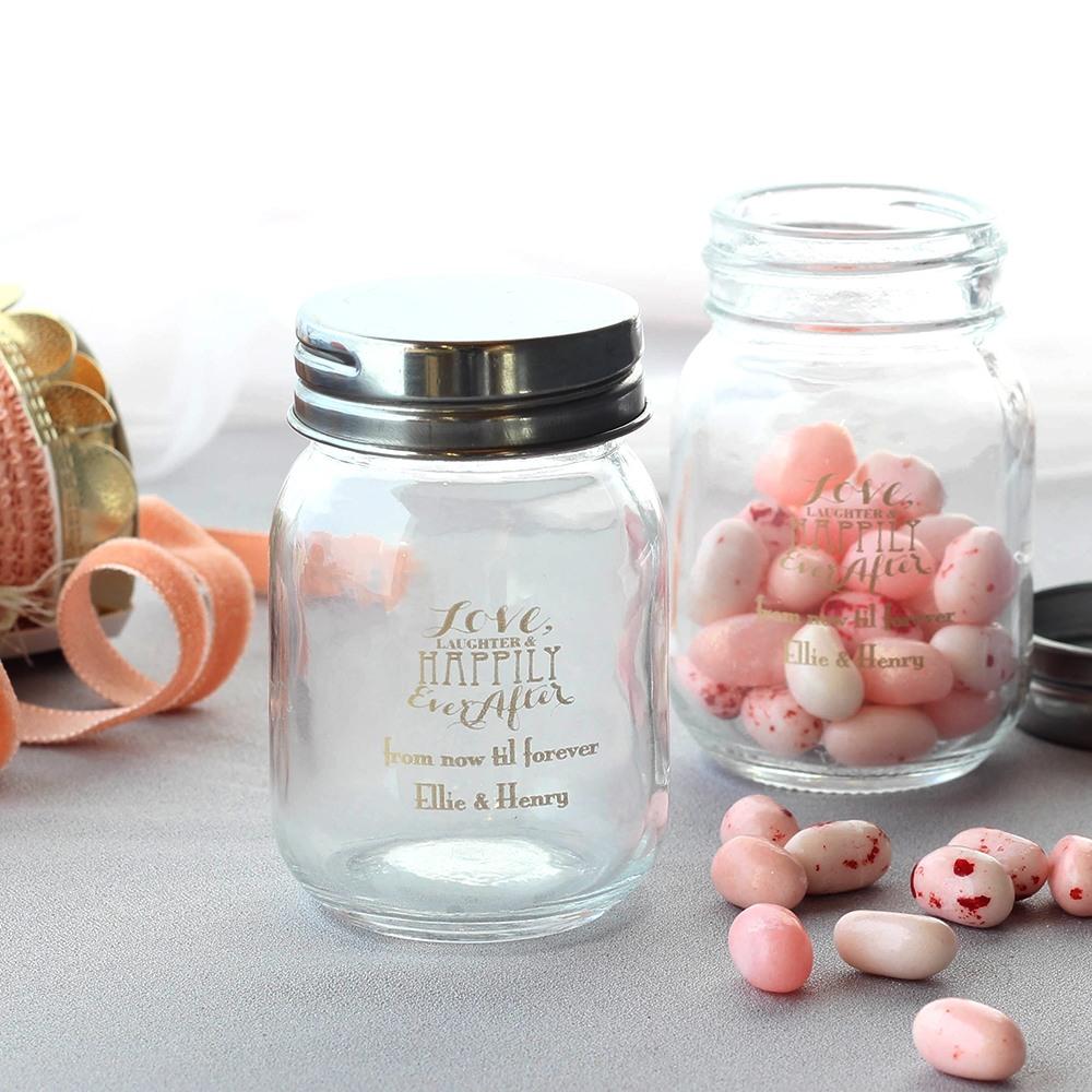 Personalized Love Laughter Mini Mason Jars