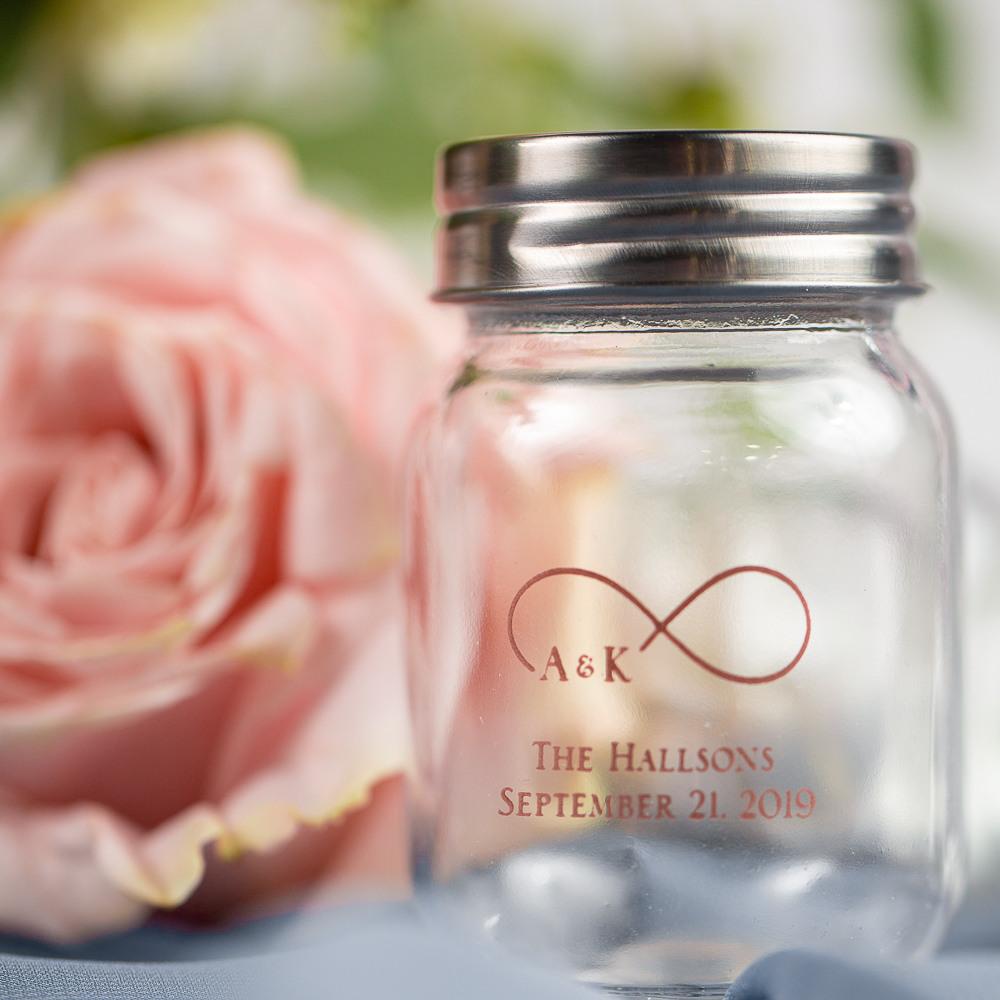 Printed Eternal Love Mini Mason Jars
