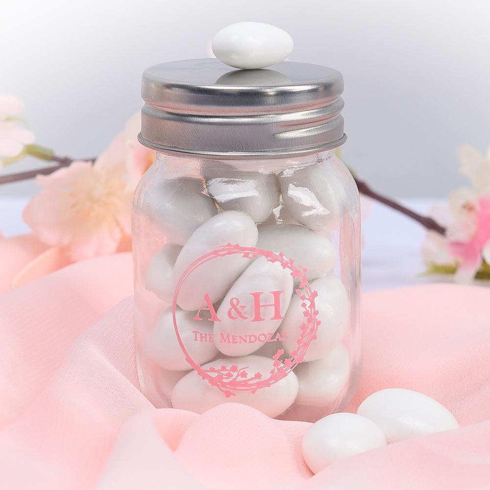 Printed Cherry Blossom Mini Mason Jars