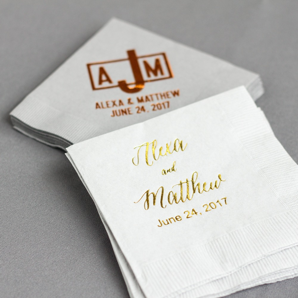 Personalized Modern Luxe Napkins