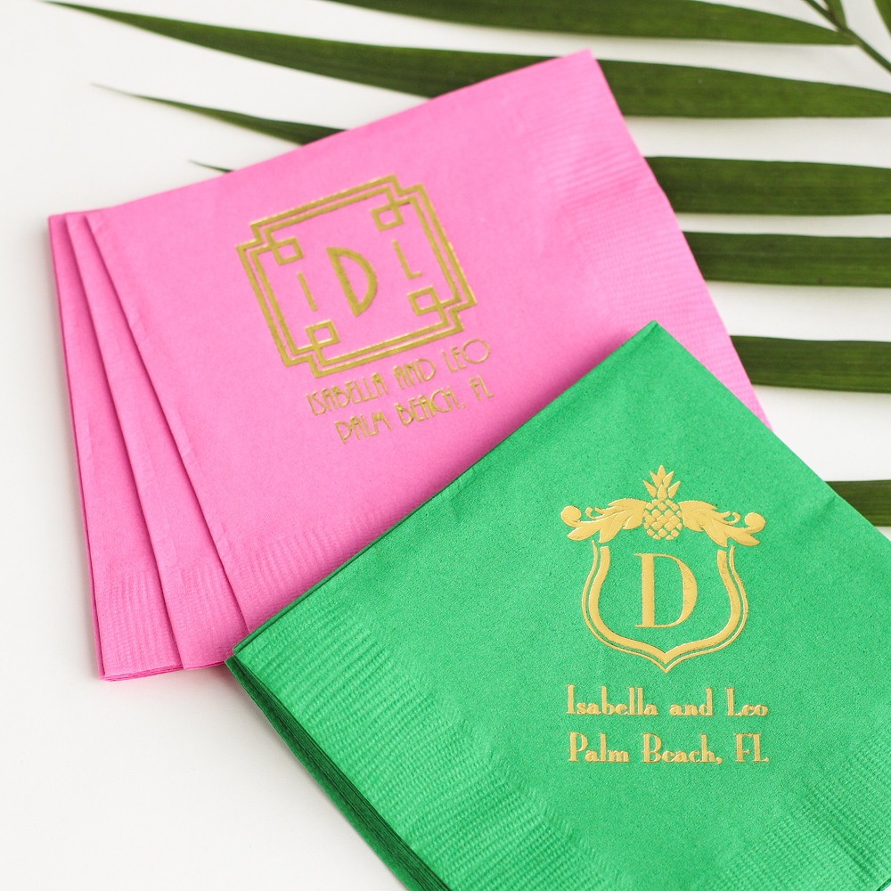 Personalized Tropical Napkins