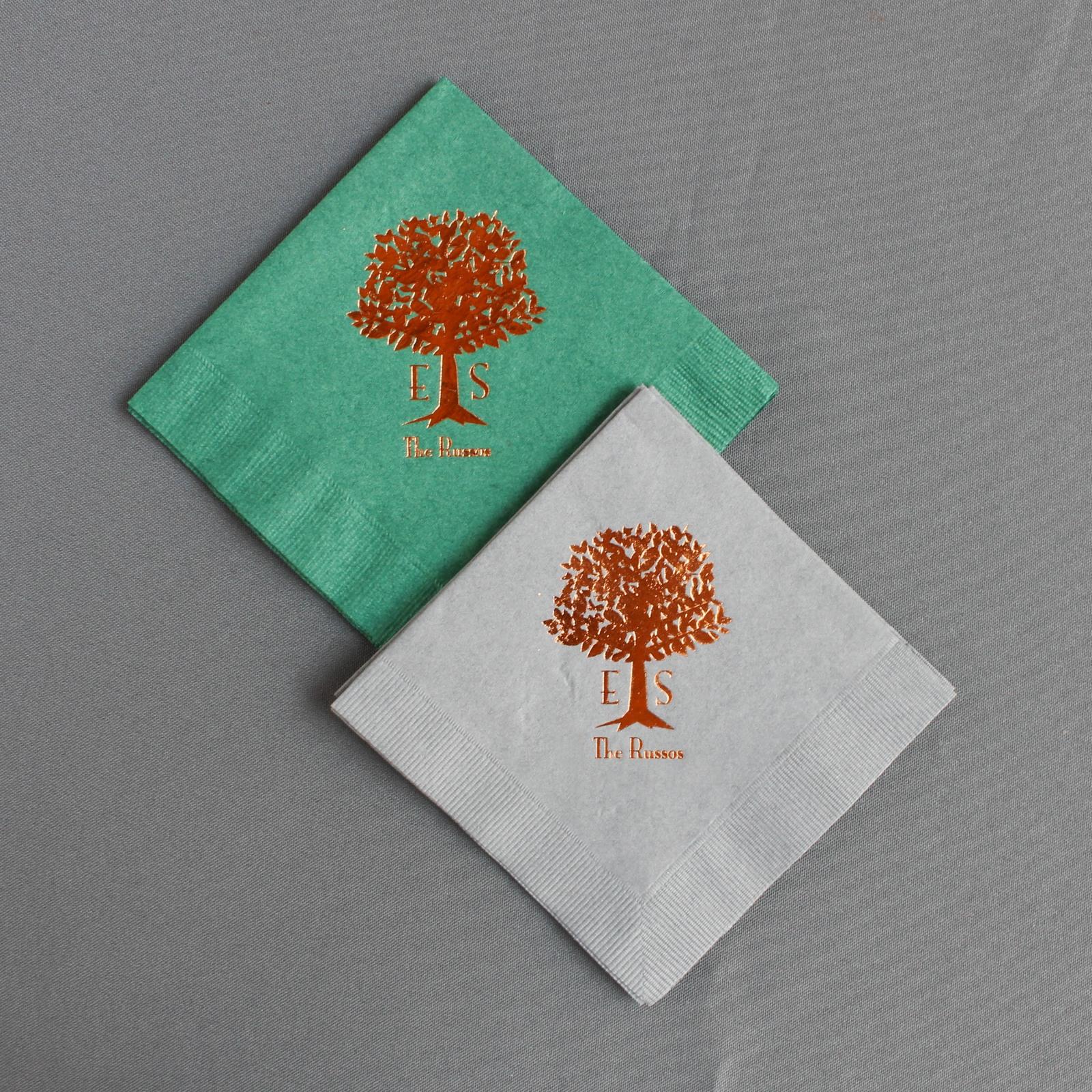 Personalized Wedding Tree Napkins