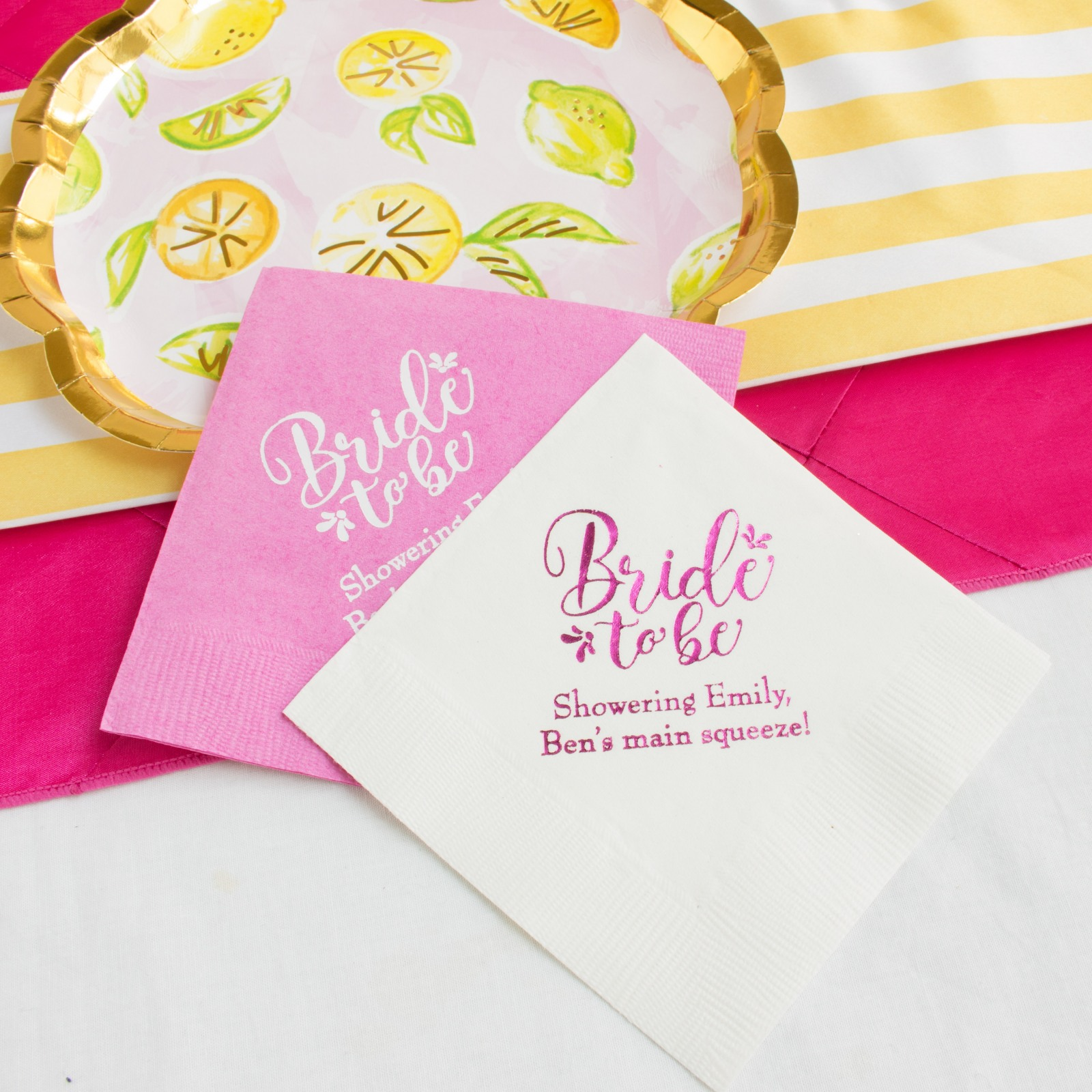 Personalized Bride to Be Napkins