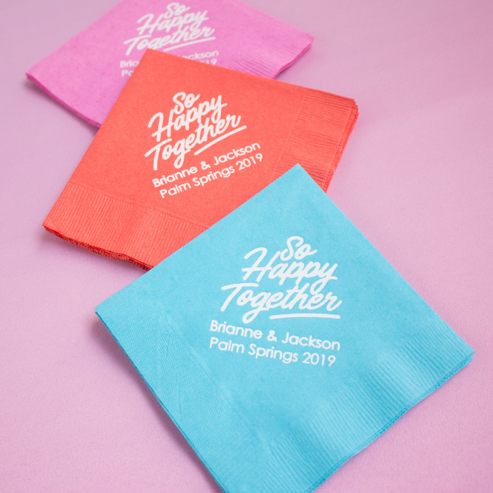 Personalized Happy Together Napkins