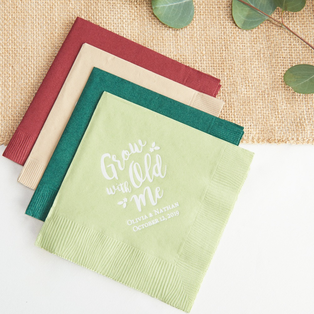 Personalized Grow Old With Me Exclusive Wedding Napkins